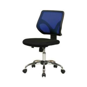 オフィスチェア 事務椅子 デスクチェア キャスター付き椅子 キャスター 椅子 チェア ブルー 青 肘なし おしゃれ 安い パソコンチェア|woooods