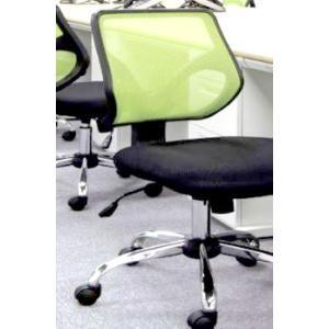 オフィスチェア 事務椅子 デスクチェア キャスター付き椅子 キャスター 椅子 チェア グリーン 緑 肘なし おしゃれ 安い パソコンチェア|woooods
