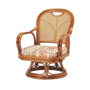 座椅子 回転 籐 ラタン 回転椅子 ( 低反発 座いす チェア チェアー 1人掛け ソファー ソファ 座イス 低い 低い椅子 リクライニング 360度回転 )|woooods