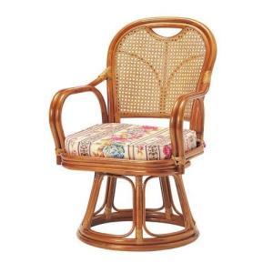 座椅子 回転 籐 ラタン 回転椅子 ミドルタイプ ( SH390 ) 低反発 座いす チェア チェアー 1人掛け ソファー ソファ 座イス 低い 低い椅子 リクライニング 回転|woooods