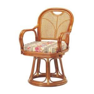 座椅子 回転 籐 ラタン 回転椅子 ハイタイプ ( SH440 ) 低反発 座いす チェア チェアー 1人掛け ソファー ソファ 座イス 低い 低い椅子 リクライニング 回転|woooods