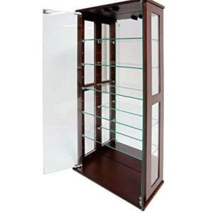 コレクションケース ガラス ガラスショーケース アンティーク ガラスキャビネット ディスプレイラック 飾り棚 ディスプレイ 高さ100 ミラー 鏡|woooods