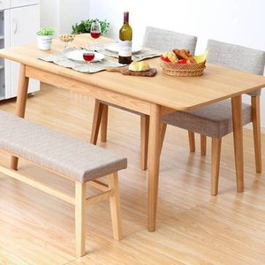 ダイニングテーブルセット おしゃれ 安い 北欧 食卓 4人用 四人用 3人 150×80 伸長式 伸縮式 折りたたみ 椅子 2脚 ベンチ 1脚 ナチュラル カントリー|woooods
