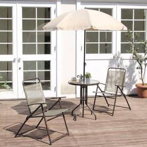 パラソル テーブル チェア 2脚セット 椅子 イス 2人用 屋外 カフェ系 テラス ガーデン 庭 ベランダ バルコニー ガーデン家具 ガーデンテーブル テーブル 机 ガ|woooods