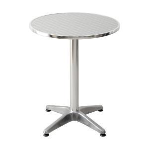 アルミ テーブル 丸テーブル 60幅 屋外 カフェ系 テラス ガーデン 庭 ベランダ バルコニー ( ガーデン家具 ガーデンテーブル 机 )|woooods