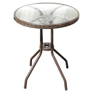 アジアン ラウンドテーブル ガラステーブル テーブル 60 屋外 カフェ系 テラス ガーデン 庭 ベランダ バルコニー ( ガーデンテーブル 机 )|woooods