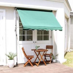 オーニング 190幅 日よけ つっぱり UV加工 撥水 カフェ系 テラス ガーデン 庭 ベランダ バルコニー ( ガーデン家具 パラソル )|woooods