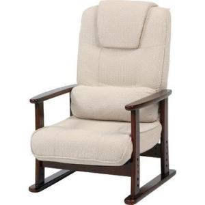 ソファー 一人掛け リクライニングチェア ベージュ ( 椅子 チェア イス いす パソコンチェア オフィスチェア ハイバック ダイニングチェア )|woooods