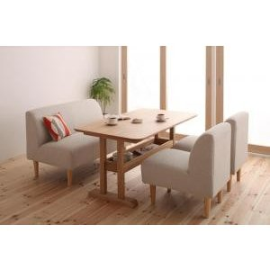 ダイニングテーブルセット 4点 4人用 4人 Cセット アイボリー 食卓 4点 四点 食卓セット テーブル チェア いす 椅子 イス 肘 ベンチ 北欧 無垢 アンティ|woooods
