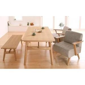 ダイニングテーブルセット 4点 北欧 4人用 4人 4点セット (Aタイプ) ナチュラル×ベージュ 食卓 四点セット 食卓セット テーブル チェア いす 椅子 イス 肘|woooods
