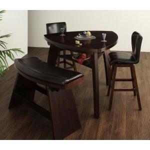 ダイニングテーブルセット 4点 4人用 4人 アジアン 4点Bタイプ (テーブル+チェア×2+ベンチ) 食卓 4点 四点 食卓セット テーブル チェア いす 椅子 イス|woooods