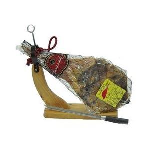 スペイン産生ハムの原木 Campodulce パレタ・セラーナ 約4kg 【専用固定式ホルダー、ナイフセット】|work-italia