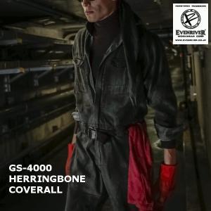 イーブンリバー even river へリンボンカバーオール GS-4000 即日出荷 作業服 作業着 作業ツナギ 続服|work-wear-e-style