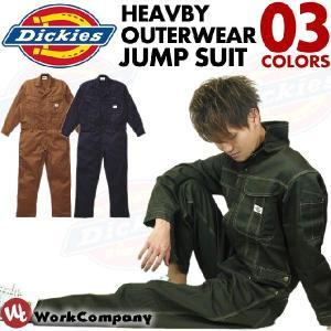 在庫限りセール/返品交換不可 長袖 ツナギ つなぎ (ジャンプスーツ)Dickies(ディッキーズ) 送料無料|workcompany