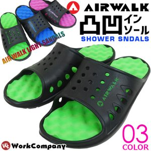メンズ サンダル エアウォーク 軽量 シャワーサンダル AW-5001-A AIRWALK スポーツ アウトドア 健康サンダル|workcompany