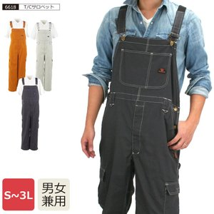 T/Cサロペット/6618 オーバーオール 作業用 日曜大工 送料無料|workerbee