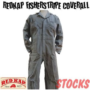 【フィッシャーストライプ】ロングスリーブカバーオール【REDKAP(レッドキャップ)】ヘリーンボーン|workersdepot1984