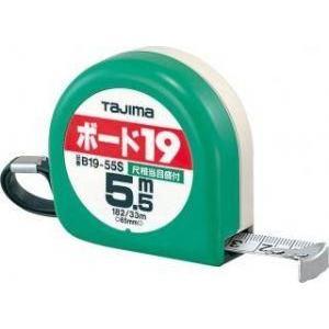 TAJIMA ボード19 5.5m 尺相当目盛付 【タジマ】B1955SBL [ボード作業用低爪コンベックス]テープ幅19mm スチールテープ workingpro