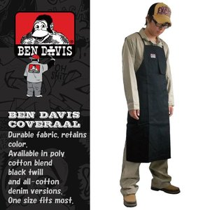 ベンデイビス ワーク エプロン BEN DAVIS 594 ブラック (3着送料無料+交換保証)|workpro