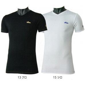 作業服の定番ブランド、寅壱の半袖VネックTシャツです。 とにかく軽量でストレッチ性があり、動きやすさ...