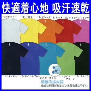 Tシャツ 半袖 作業服 作業着 インナー 通年 通気性 吸汗速乾 ポリエステル100%(bo-MS1146)|workshopgorilla