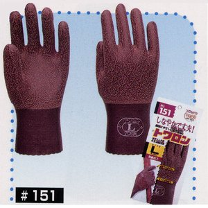 hi-151 トワロン(表/天然ゴム) 裏綿・作業手袋・柔軟・防臭加工・作業服・作業着|workshopgorilla
