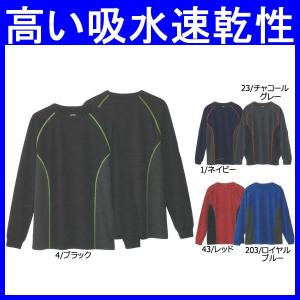 Tシャツ 長袖 作業服 作業着 インナー 胸ポケット無し 吸汗速乾 消臭 ポリエステル100%(so-50132)|workshopgorilla