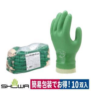 作業用手袋 簡易包装グリーンジャージ 10双入 農業 水産 S/M/L ショーワグローブ|workway