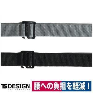 TS DESIGN ストレッチベルト 84919 新作  防寒 ベルト チャコールグレー/ブラック フリーサイズ workway