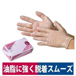 使い捨て手袋 油・洗剤に強い ビニール極薄手袋 粉なし 100P 介護 清掃 S/M/L 川西工業 2023|workway
