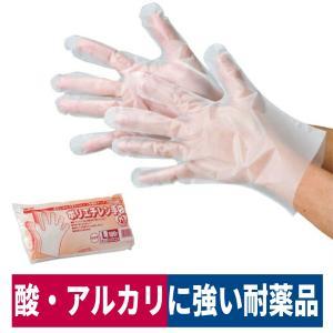 使い捨て手袋 ポリエチレン手袋 耐薬品性 食品加工 清掃 介護 100枚入  S/M/L  2015|workway