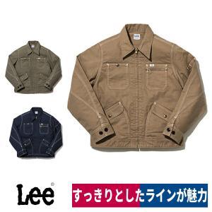 Lee レディースジップアップジャケット LWB03002 ストレッチダック 作業着 S/M/L/XL workway