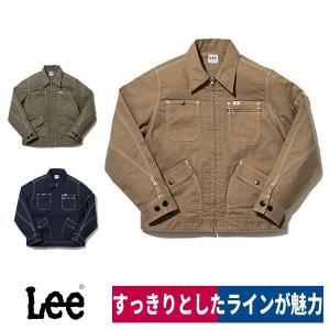Lee メンズジップアップジャケット LWB06002 ストレッチダック 作業着 M/L/XL/XXL workway