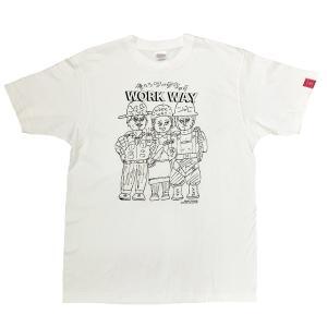 デハラユキノリ 限定 綿100% Tシャツ プリント ホワイト イエロー 俺たちワークウェイ|workway