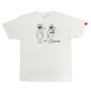 デハラユキノリ 限定 綿100% Tシャツ プリント ホワイト トメONOFF サトシONOFF|workway
