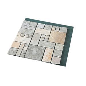 送料無料 雑草が生えない天然石マット ローマ調4枚組の関連商品1