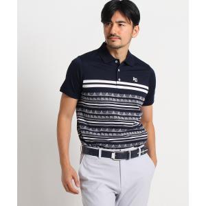 adabat(Men)(アダバット(メンズ))サーフパネルボーダー半袖ポロシャツ|world-direct