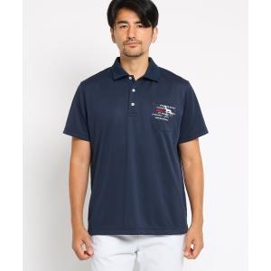 adabat(Men)(アダバット(メンズ))スパッシーピンメッシュポロシャツ|world-direct