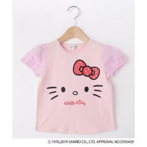 SHOO・LA・RUE/Kids(シューラルー /キッズ)【ハローキティ】袖布帛Tシャツ|world-direct