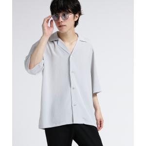 tk.TAKEO KIKUCHI(ティーケー タケオ キクチ)楊柳オープンカラー半袖シャツ world-direct