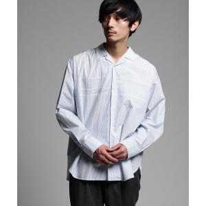 tk.TAKEO KIKUCHI(ティーケー タケオ キクチ)エジプト綿ストライプオーバー開襟シャツ world-direct