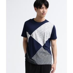 tk.TAKEO KIKUCHI(ティーケー タケオ キクチ)アーガイルパッチワークTシャツ world-direct