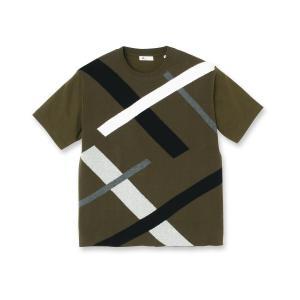 tk.TAKEO KIKUCHI(ティーケー タケオ キクチ)ニットドッキングランダムスラントシャツ|world-direct