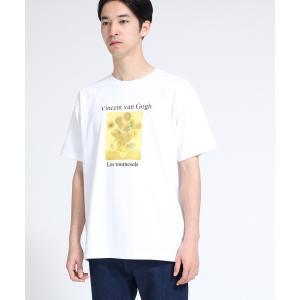 tk.TAKEO KIKUCHI(ティーケー タケオ キクチ)アートコレクション「ひまわり」Tシャツ|world-direct|02
