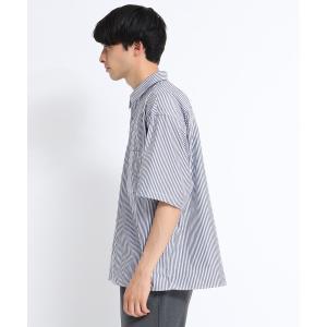 tk.TAKEO KIKUCHI(ティーケー タケオ キクチ)ストライプオーバーシャツ|world-direct|03