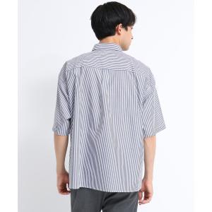 tk.TAKEO KIKUCHI(ティーケー タケオ キクチ)ストライプオーバーシャツ|world-direct|04