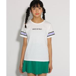 PINK-latte(ピンク ラテ)レインボー袖 Tシャツ|world-direct