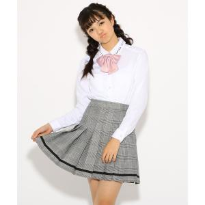 PINK-latte(ピンク ラテ)【卒服】リボンタイ付 ライン スカート|world-direct