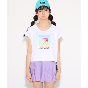 PINK-latte(ピンク ラテ)水着 スポ水着+転写プリントTシャツ+プリーツスカートセット|world-direct