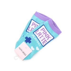 PINK-latte(ピンク ラテ)ゲーム機くるぶし丈ソックス|world-direct
